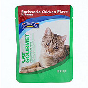 Hill Country Fare Cat Gourmet Rotisserie Chicken Flavor in Sauce Premium Cat Food