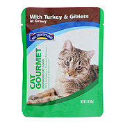 Hill Country Fare Cat Gourmet Turkey and Giblets in Gravy Premium Cat Food
