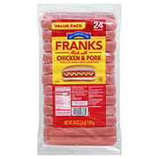 Hill Country Fare Chicken and Pork Meat Franks Value Pack