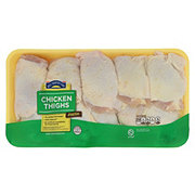 Hill Country Fare Chicken Thighs Bone In, Value Pack