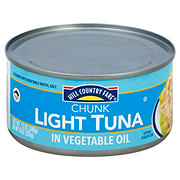 Hill Country Fare Chunk Light Tuna in Vegetable Oil