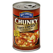 Hill Country Fare Chunky Fajita Chicken with Rice and Beans Soup