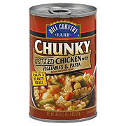 Hill Country Fare Chunky Grilled Chicken with Vegetables & Pasta Soup