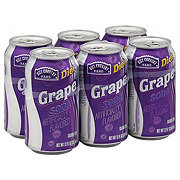 Hill Country Fare Diet Grape Soda 12 oz Cans