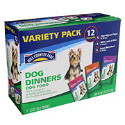 Hill Country Fare Dog Dinners 3 Flavor Variety Pack Dog Food 12 PK