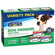 Hill Country Fare Dog Dinners 3 Flavor Wet Dog Food Variety Pack Dog