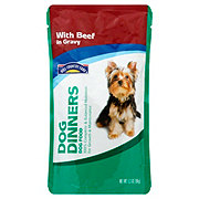 Hill Country Fare Dog Dinners Complete and Balanced with Beef in Gravy Wet Dog Food