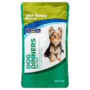 Hill Country Fare Dog Dinners Complete and Balanced with Turkey in Gravy Wet Dog Food