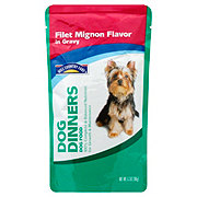 Hill Country Fare Dog Dinners Filet Mignon Flavor in Gravy Wet Dog Food