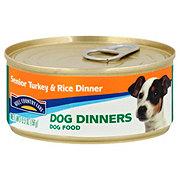 Hill Country Fare Dog Dinners Senior Turkey & Rice Dinner Wet Senior Dog Food
