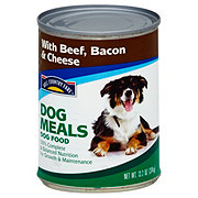 Hill Country Fare Dog Meals Complete and Balanced with Beef Bacon and Cheese Wet Dog Food