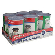 Hill Country Fare Dog Meals Complete and Balanced with Beef Cuts in Gravy Dog Food, 6 ct