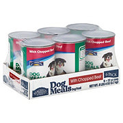 Hill Country Fare Dog Meals Complete and Balanced with Chopped Beef Wet Dog Food