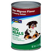Hill Country Fare Dog Meals Filet Mignon Flavor in Savory Juices Wet Dog Food