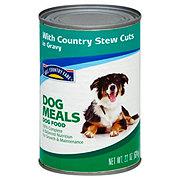 Hill Country Fare Dog Meals Select Cuts with Country Stew in Gravy Dog Food