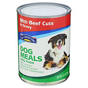 Hill Country Fare Dog Meals with Beef Cuts In Gravy Wet Dog Food