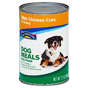 Hill Country Fare Dog Meals with Chicken Cuts in Gravy Wet Dog Food