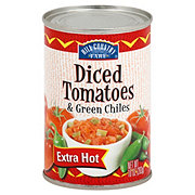 Hill Country Fare Extra Hot Diced Tomatoes & Green Chilies