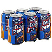 Hill Country Fare Fruit Punch Soda 12 oz Cans