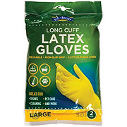 Hill Country Fare Latex Long Cuff Large Gloves