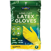 Hill Country Fare Latex Long Cuff Small Gloves