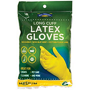 Hill Country Fare Long Cuff Latex Medium Gloves