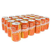 Hill Country Fare Orange Soda, 24 PK Cans