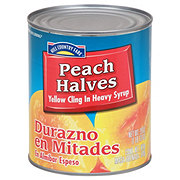 Hill Country Fare Peach Halves in Heavy Syrup