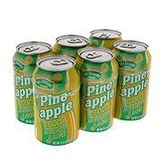 Hill Country Fare Pineapple Soda 12 oz Cans