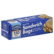 Hill Country Fare Plastic Sandwich Bags With Fold And Close Top