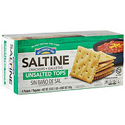 Hill Country Fare Saltines Unsalted Tops