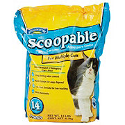 Hill Country Fare Scoopable Unscented Cat Litter for Multiple Cats