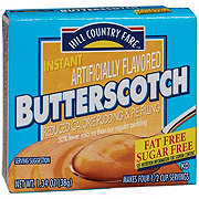 Hill Country Fare Sugar Free Butterscotch Instant Pudding Mix