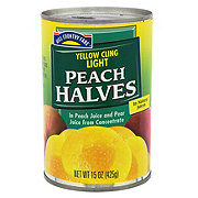 Hill Country Fare Yellow Cling Light Peach Halves in Natural Juices