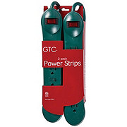 Holiday Market 6 Outlet Powerstrip Green