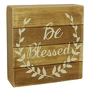 Holiday Market Be Blessed Wood Table Decor