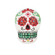 Holiday Market Day Of The Dead Mini Skull Turquoise Glitter