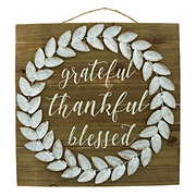 Holiday Market Grateful, Thankful, Blessed Wall Decor
