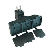 Holiday Market Indoor/ Outdoor Heavy Duty 3 Outlet Adapter