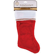 Holiday Market Red Stocking with Glitter Pen Decorating Kit