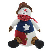 Holiday Market Sitting Snowman Doll Decoration