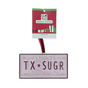 Holiday Market TX-SUGR License Plate Ornament