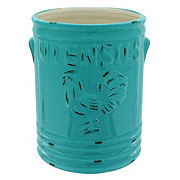 Home Essentials & Beyond Aqua Embossed Rooster Utensil Crock Aqua