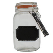 Home Essentials & Beyond Glass Canister with Chalk