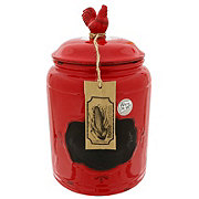 Home Essentials & Beyond Large 177oz Red Rooster Chalk Canister