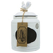 Home Essentials & Beyond Small 84oz Ivory Rooster Chalk Canister
