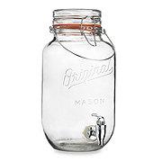 Home Essentials and Beyond Bail N Trigger Top Mason Drink Dispenser.
