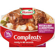 Hormel Compleats Homestyle Meatloaf & Gravy with Mashed Potatoes
