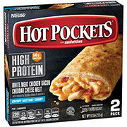 Hot Pockets White Meat Chicken Melt with Bacon Cheddar Stuffed Sandwiches