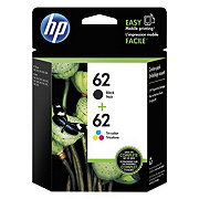 HP 62 Black/ Tri-Color Original Ink Cartridges Combo Pack